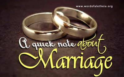 A Quick Note About Marriage
