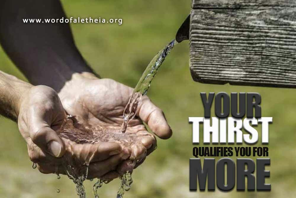 Your Thirst Qualifies You For More
