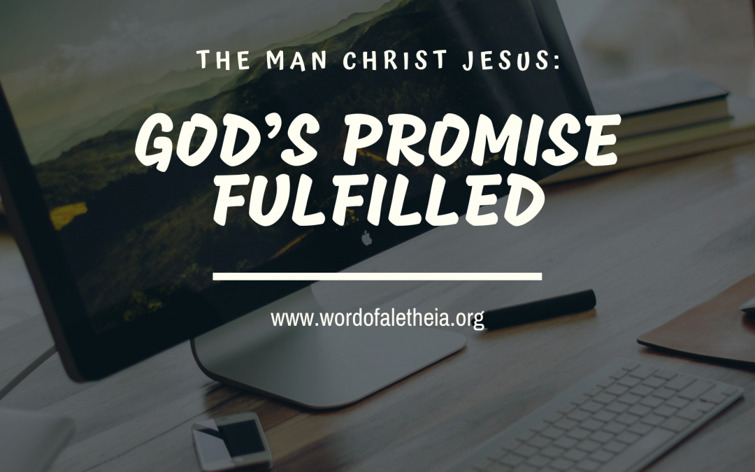 THE MAN CHRIST JESUS: GOD'S PROMISES FULFILLED